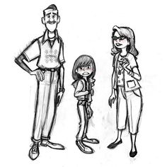 Inside Out character designs