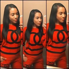 Red Chanel Tracksuit -@TheeBrookieD