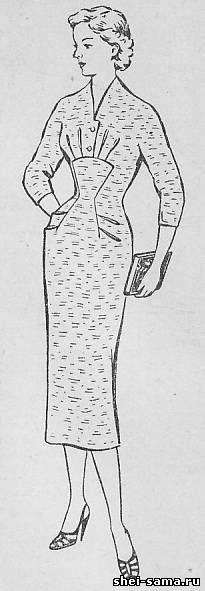 Платье с фигурным подрезом - Сто фасонов женского платья - Всё о шитье