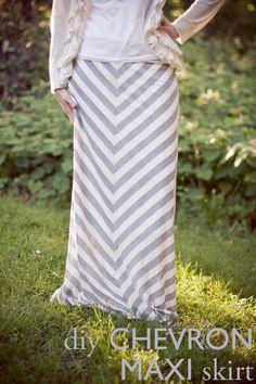 #DIY Chevron Maxi Skirt
