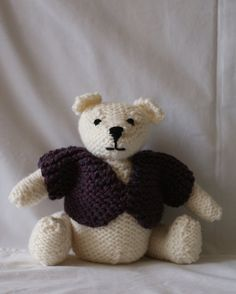 Teddy Bear Hand Knitted in South West Ireland by IrishTeddyBears, Dog Jumpers, Hand Knitting, Ireland, Teddy Bear, Trending Outfits, Toys, Handmade Gifts, Projects, Sweaters