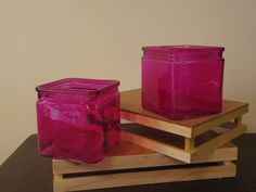 Think pink with this cube container!! www.bloominggalsbouquets.com http://on.fb.me/1BT3HNz
