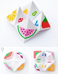 Гадалка оригами для детей из бумаги, оригами схемы скачать для детей 2, 3, 4, 5 лет