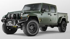 Filson has designed a custom version of American Expedition Vehicle (AEV) Brute Double Cab, which is in turn a custom pickup version of the Jeep Wrangler. Built on a stretched frame, AEV adds a 61x60-inch bed to the four-door Jeep Wrangler Unlimited's cab and comes with the optional 6.4-liter Hemi V8.