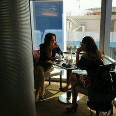 Desayunando con Michelle Roche, del periódico El Nacional.