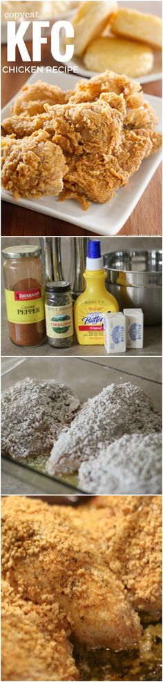 Copycat KFC Chicken ~ Make your own mouth watering copycat KFC chicken at home with this recipe.