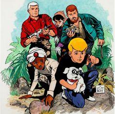 Original Jonny Quest promotional illustration by Doug Wildey, 1986.