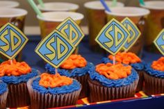 Scooby Doo birthday party cupcakes
