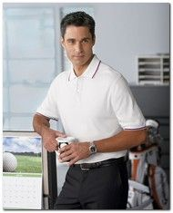 $25.65 > Ashworth 1114C Men's Performance Wicking Blend Polo - Available Colors: 4, Size Range: S - 4XL