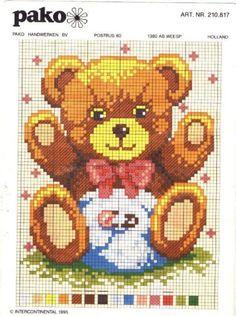Cross Stitch Baby, Cross Stitch Charts, Cross Stitch Patterns, Baby Chart, Plastic Canvas Patterns, Craft Patterns, Baby Quilts, Pixel Art, Animals And Pets