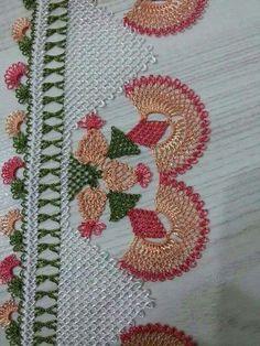 150+ Resimli İğne Oyası Modelleri Zig Zag Crochet, Filet Crochet, Crochet Lace, Crochet Hooks, Needle Lace, Bobbin Lace, Linen Towels, Lace Making, Beautiful Crochet