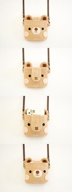 Crochet Case for Fuji Instax Camera Cute Bear by Meemanan on Etsy