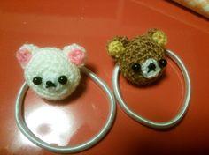 Kids Accessories ハンドメイド あみぐるみくまちゃんズヘアゴムセット インテリア 雑貨 Handmade ¥450yen 〆05月24日