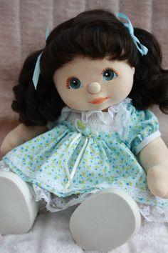 My Child Doll Brunette RP Blue Peach