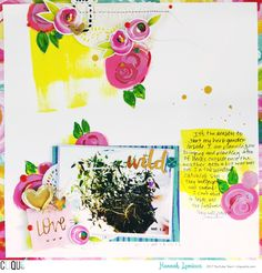 """Mixed Media Monday Layout/Process Video For Clique Kits Youtube Channel. Layout made with April """"Jelly Bean"""" Kit"""