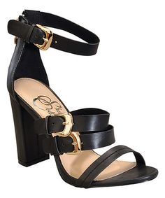 Look what I found on #zulily! Black Belle Sandal by Shake Shoes #zulilyfinds