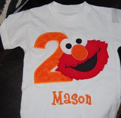 Elmo BOYChildrens Birthday Shirt On By TutuHairbowBoutique 3950 So Going To Get This For