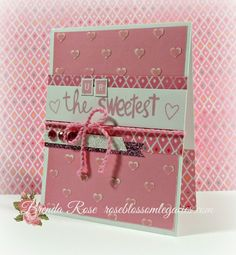 sweetest card by Brenda Rose using CTMH Brushed paper