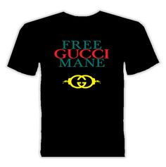 Free Gucci Mane Rap T Shirt is available on a Black 100% Cotton Tee. The Free Gucci Mane Rap T Shirt is available in all sizes. Please select your desired shirt style and size from the drop down above.<ul><li>Item(s) custom made and shipped within 48 hours via USPS First Class Mail</li><li>Each order will recieve an online status tracker for real-time updates</li>