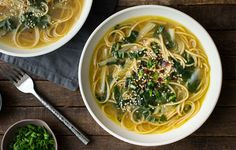 Bok Choy and Ginger Noodle Soup https://www.rodalesorganiclife.com/food/bok-choy-recipes/slide/7