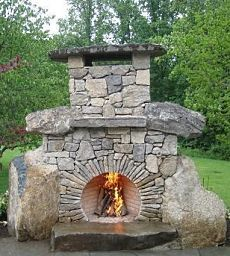 Brick fireplace and Fireplace outdoor