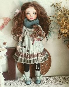 Купить или заказать Наталия в интернет-магазине на Ярмарке Мастеров. Куколка в смешанной технике, лицо и ручки ливингдолл, тело каркасное. Одежда из хлопка, не снимается. Резерв.