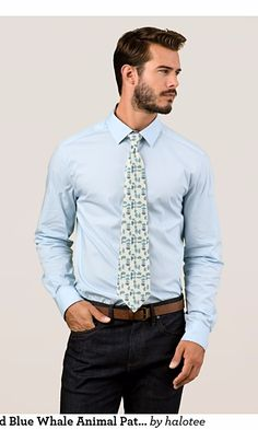 Chic White and Blue Whale Animal Pattern Neck Tie This chic tie features White and Blue Whale Animal Pattern for him, for men, for man, for business man. Suitable for white, cream or blue T-Shirts. Check out https://www.zazzle.com/chic_white_and_blue_whale_animal_pattern_neck_tie-151368833219241131?rf=238478323816001889 to get 25% off with code ZAZZSITEDEAL. See more products on collection…