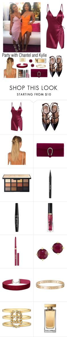 """""""Party with Chantel Jeffries and Kylie Jenner"""" by ap0dita ❤ liked on Polyvore featuring JEFFRIES, Valentino, HAIR DESIGNACCESS, Gucci, Stila, NYX, Too Faced Cosmetics, Effy Jewelry, Miss Selfridge and Cartier"""