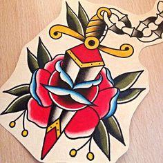 old school traditional rose tattoos - חיפוש ב-Google