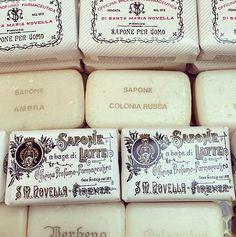 Santa Maria Novella. exquisite packaging. / @ SimoneLeBlanc on instagram.