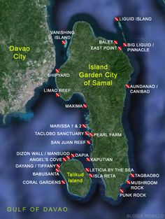Dive Trip: Samal's Islands - When In Manila Coral Garden, Davao, Manila, Scuba Diving, Philippines, Island, City, World, Maps