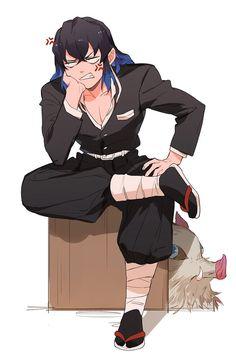 Oh yeah. He never wears the uniform. Slayer Meme, Demon Slayer, Chica Anime Manga, Anime Guys, Manga Art, Anime Art, Anime Lindo, Anime Boyfriend, Anime Demon