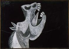 Pablo Picasso no CCBB .  Cabeza de caballo, Esboço para Guernica, Pablo Picasso, 1937, óleo sobre tela, 65 x 92 cm(Foto: Succession Pablo Picasso / AUTVI)