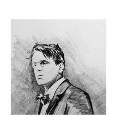 Stephen Farnan's portrait of renowned Sligo poet W. Yeats is immortalised in this porcelain image Irish Pottery, Glass Ceramic, Poet, Porcelain, Ceramics, Portrait, Cats, Image, Products