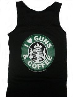 Wear this into starbucks to show your support for their decision to respect the 2nd amendment and allow open carry in thier cafes in places where it is legal.