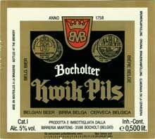 Etiquettes des bières de la brasserie Martens à Bocholt