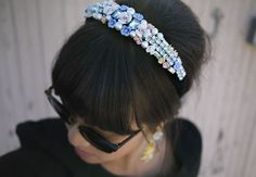 Honestly WTF's DIY Dolce and Gabbana headband - see more of our Top 5 DIY headbands here http://blog.mjtrim.com/2012/05/19/top-5-blogger-headband-diys/