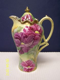 Nippon Floral Decorated Chocolate Pot