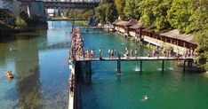 In Zurich, the city with plenty of water, swimming is a cult – and a place to cool down with a swim in the river or lake Transformers, River Bath, Lake Zurich, Summer Scenes, Mall Of America, North America, Tourist Information, Caribbean Cruise, Royal Caribbean