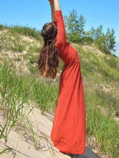 Organic Cotton Everyday Maxi Dress by consciousclothing on Etsy, $120.00