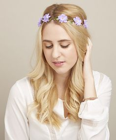 Another great find on #zulily! Purple Flower Halo Headband by Mia Beauty #zulilyfinds