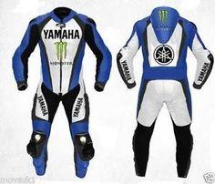 estado del producto nuevo con etiquetas yamaha diseno azul blanco 2 piezas traje carreras de motocicleta biker de cuer