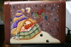 https://www.facebook.com/ThistleDewCrafts/ Plum Purdy design, painted by Janet Nichols, Thistle Dew