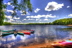 1. Cochituate Lake in Cochituate State Park is absolutely stunning on a sunny day.