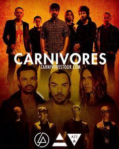 Carnivores tour with Linkin Park, Thirty Seconds to Mars & AFI---I'm gonna go next month!!!I'm so freaking excited!:DDD