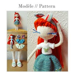 Paulette  Crochet doll pattern by Flaviecrochette on Etsy
