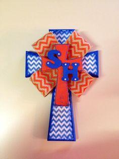 SHSU Chevron Cross by RanchRoadCreations on Etsy, $40.00