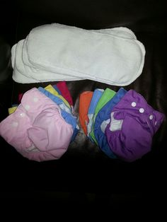 Simple patterned reusable diapers, extra snaps make them adjustable 3-18m