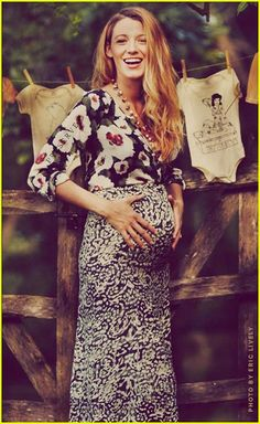 A very cute pregnant blake lively