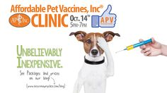 On Tuesday, October 14th, 2014 we'll be hosting our monthly Affordable Pet Vaccines, Inc® Clinic from 5:00pm to 7:00pm here at the store in Mount Joy, PA! Come on out for some great deals on dog and cat vaccination packages.  Click Link for packages and prices http://www.keystonepetplace.com/blog/wp-content/uploads/2014/09/APV-Packages-Prices-October-2014.jpg